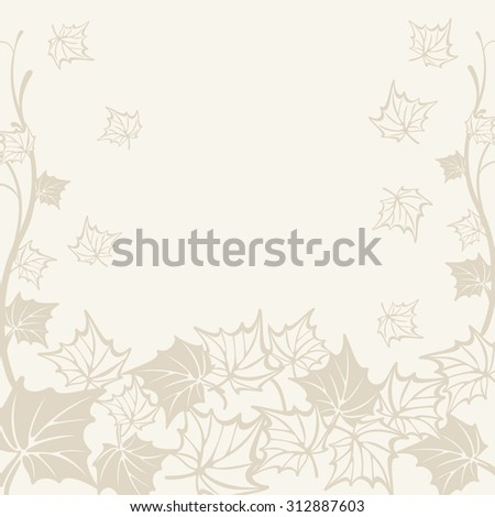 illustration of a beautiful autumn background. fall maple leaf. raster version - stock photo