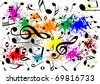 Illustration of a musical background - stock photo