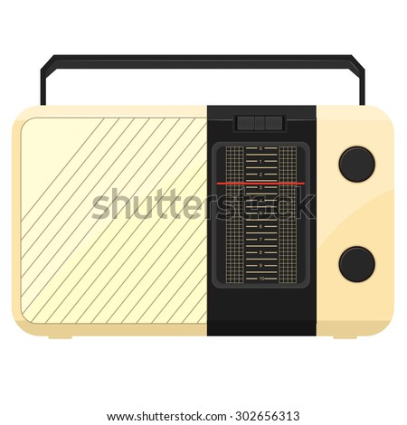 illustration of a portable radio - stock photo