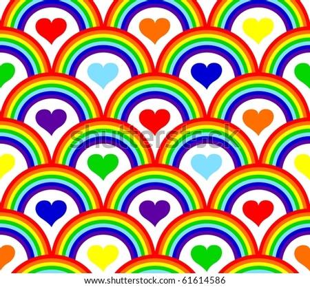 illustration of a seamless rainbow pattern - stock photo