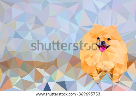 illustration of abstract background for design. Polygonal  dog - stock photo