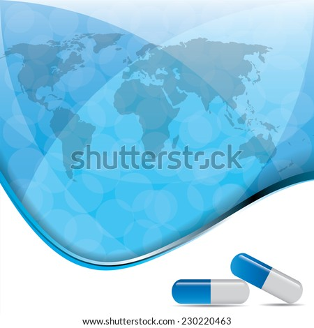 illustration of abstract medical background . - stock photo