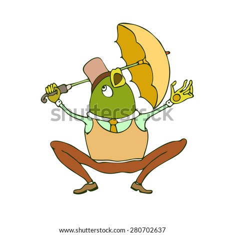 illustration of cute animal.  illustration of cartoon frog. Cute cartoon frog - stock photo