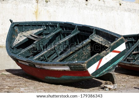 Image of a fishing boat in Morocco - stock photo