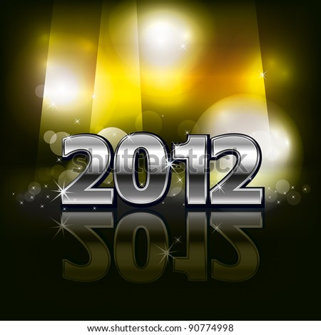 2012 in dark background - stock photo