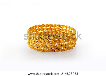Indian Traditional Gold Bangles - stock photo