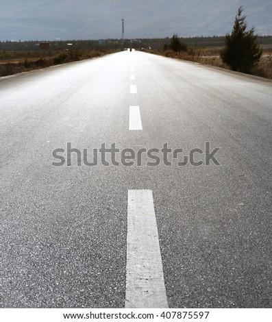 infinite roads  - stock photo