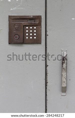 intercom on the white background - stock photo