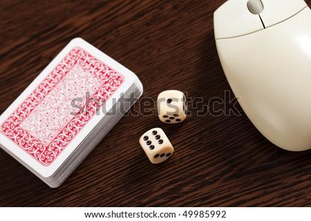 internet gambling - stock photo