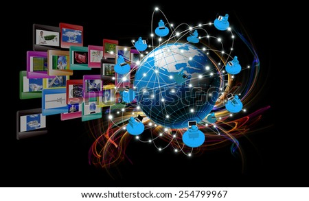 Internet technologies concept of global busines - stock photo