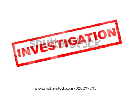 """""""Investigation"""" text on grunge rubber stamp effect  - stock photo"""