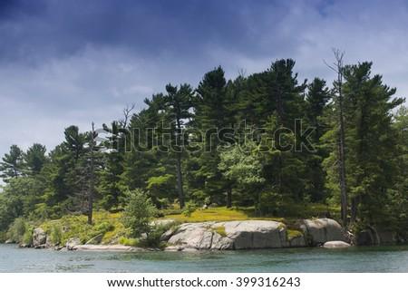 1000 Islands Region. Kingston. Summer. Ontario. Canada - stock photo