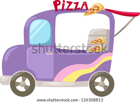 Italian pizza delivery car . jpg (EPS vector version id 126059243,format also available in my portfolio) - stock photo