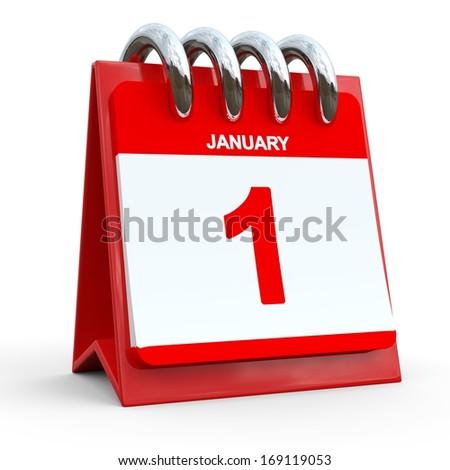 1 january calendar... January first calendar date - stock photo