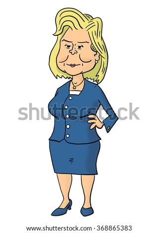 28 January, 2016: Hillary Clinton standing - stock photo