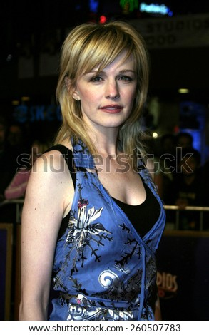 27 January 2005 - Hollywood, California - Kathryn Morris. The world premiere of 'The Wedding Date' at Universal Studios Cinema in Universal Studios Hollywood.  - stock photo