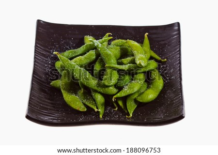 Japanese soybean.  - stock photo