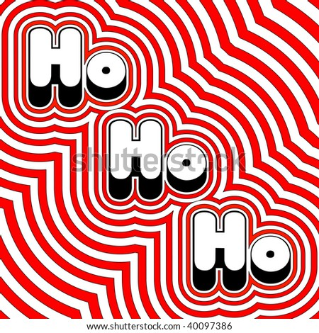 (Jpg) Groovy Christmas Ho Ho Ho! A vector version is also available. - stock photo