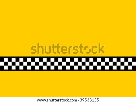 (Jpg) Inspired by the famous New York Yellow Cabs, with plenty of copy space. A vector version is also available. - stock photo