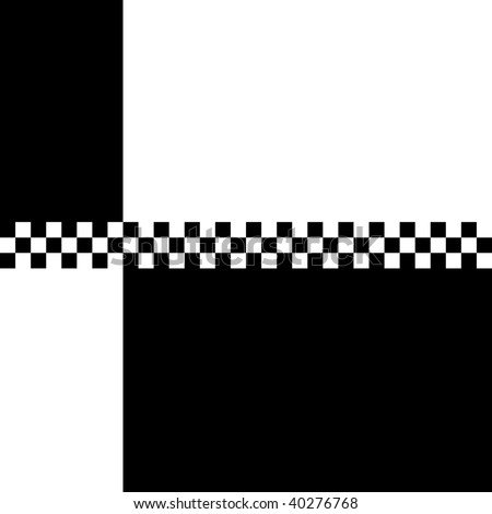 (Jpg) 80s retro '2 Tone' checkerboard design with plenty of copyspace. A vector version is also available. - stock photo