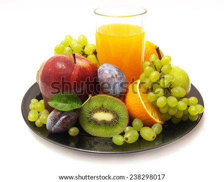 Juice fruit - stock photo