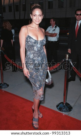 """27JUL99: Actress JENNIFER LOPEZ at the world premiere in Beverly Hills of """"The Thomas Crown Affair"""" which stars Pierce Brosnan & Rene Russo.  Paul Smith/ Featureflash - stock photo"""