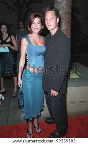 "19JUL99: Actress TORI SPELLING & brother RANDY at premiere of her new movie ""Trick"" at the Egyptain Theatre, Hollywood.  Paul Smith / Featureflash - stock photo"