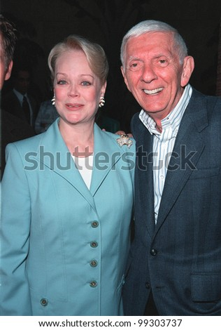 "19JUL99: Producer AARON SPELLING & wife CANDY at premiere of daughter Tori's new movie ""Trick"" at the Egyptain Theatre, Hollywood.  Paul Smith / Featureflash - stock photo"