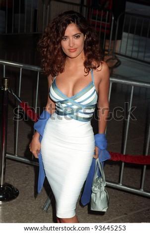 "09JUN97:  Actress SALMA HAYEK at the premiere of  ""Speed 2: Cruise Control."" - stock photo"