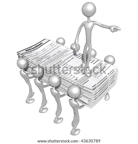 401K Forms - stock photo
