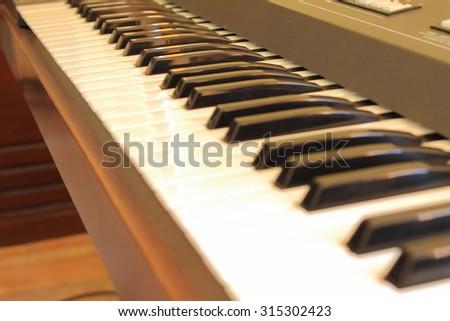Keys of electronic piano  - stock photo