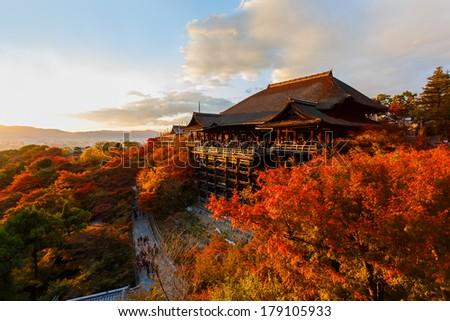 Kiyomizu-dera in Temple Kyoto - stock photo