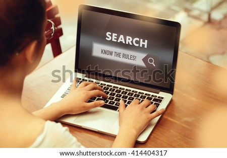 """ Know The Rules! "" Internet Data Technology Concept - stock photo"