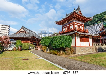 Kofukuji Temple in Nagasaki - stock photo