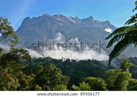 Kota Kinabalu (Mount Kinabalu), Borneo (Land Below The Wind) - stock photo