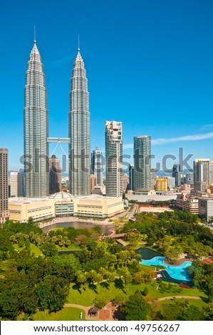 Kuala Lumpur and gardens - stock photo
