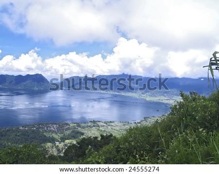 Lake Maninjau - stock photo