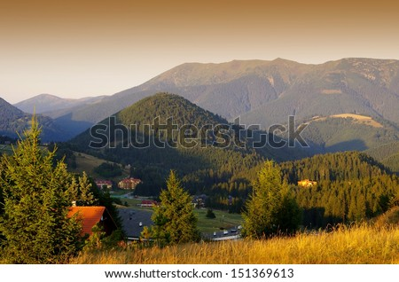 Landscape in Donovaly resort, Slovakia  - stock photo
