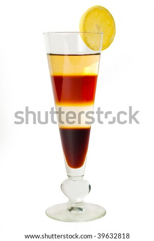 4 layered cocktail - stock photo