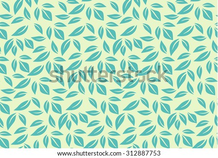 leaf seamless pattern. leaves background can be used for wallpaper, fills, web page, surface textures. raster version - stock photo