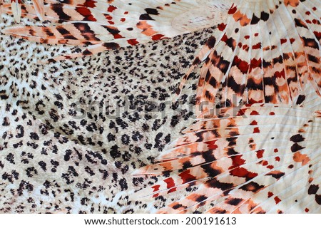 Leopard fabric pattern,silk fabric - stock photo