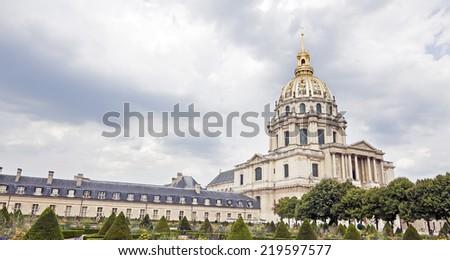 """Les Invalides"" in Pari�s, France. Famous landmark. - stock photo"
