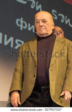 """Lev Durov. The premiere of the movie """"Do not be afraid, I am with you! 1919 """", November 18, 2014 in the Russia Theater in Moscow, Russia - stock photo"""