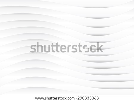 Light gray version of horizontal lines or stripes pattern background with wavy, curving distortion effect. Bending, warped lines. - stock photo