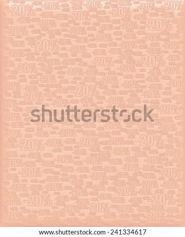 20% light orange background - stock photo