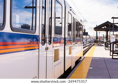 lightrail station  - stock photo