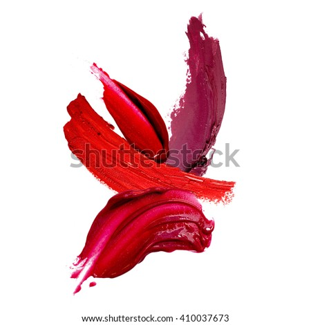 lipstick stroke background - stock photo