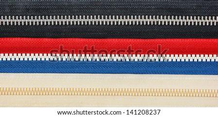 locks zipper isolated on a white background - stock photo