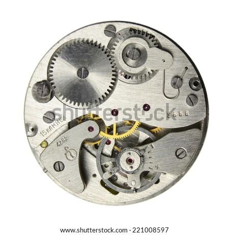 ?lockwork isolated on white  - stock photo