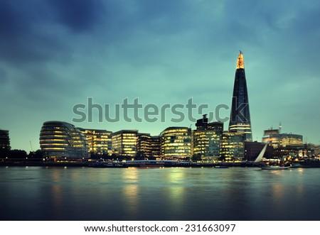 London city at sunset , UK - stock photo
